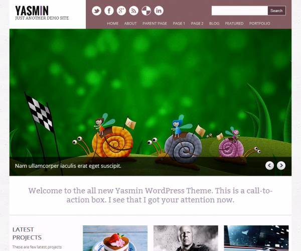 Free WordPress theme Yasmin