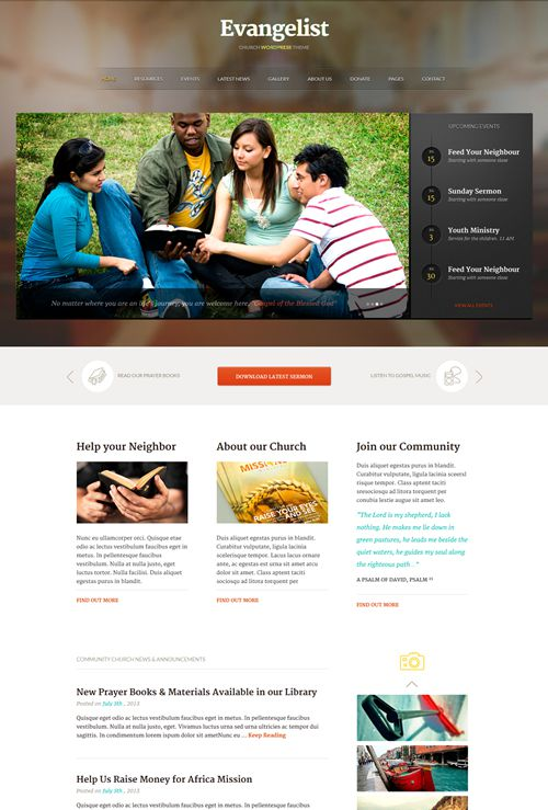 Evangelist-WordPress-Theme