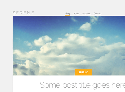 theme-wordpress-serene