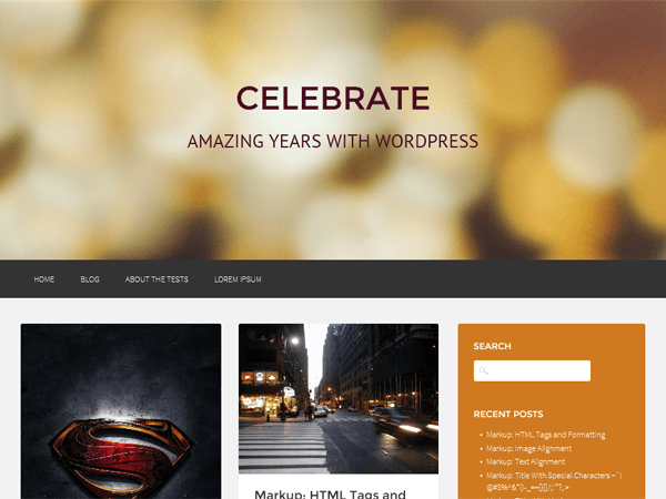 Celebrate-wordpress-theme