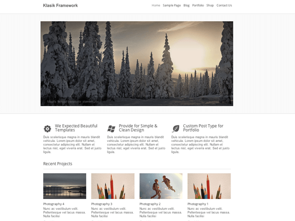 Klasik-wordpress-theme