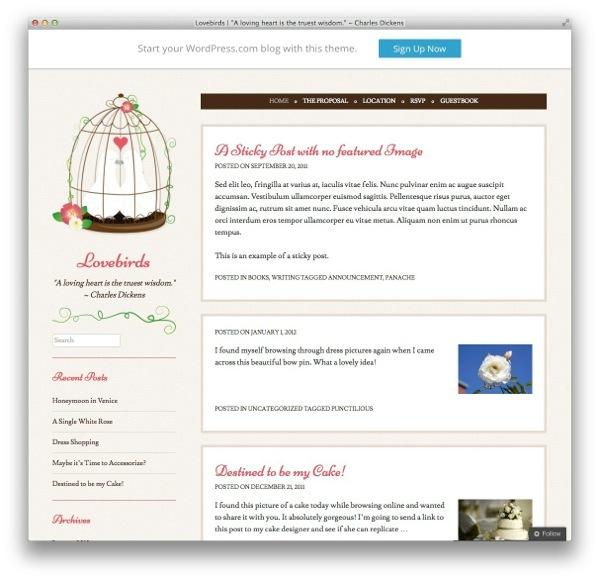 lovebirds-wordpress-theme
