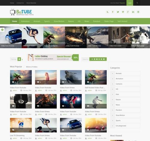 BeeTube-Video-wordpress