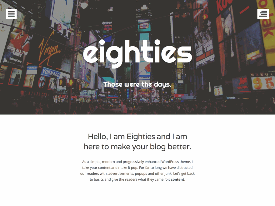 eighties-wordpress-theme