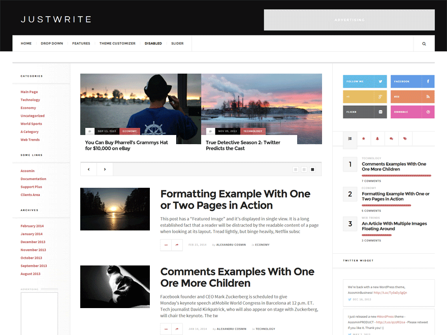 justwrite-wordpress-theme