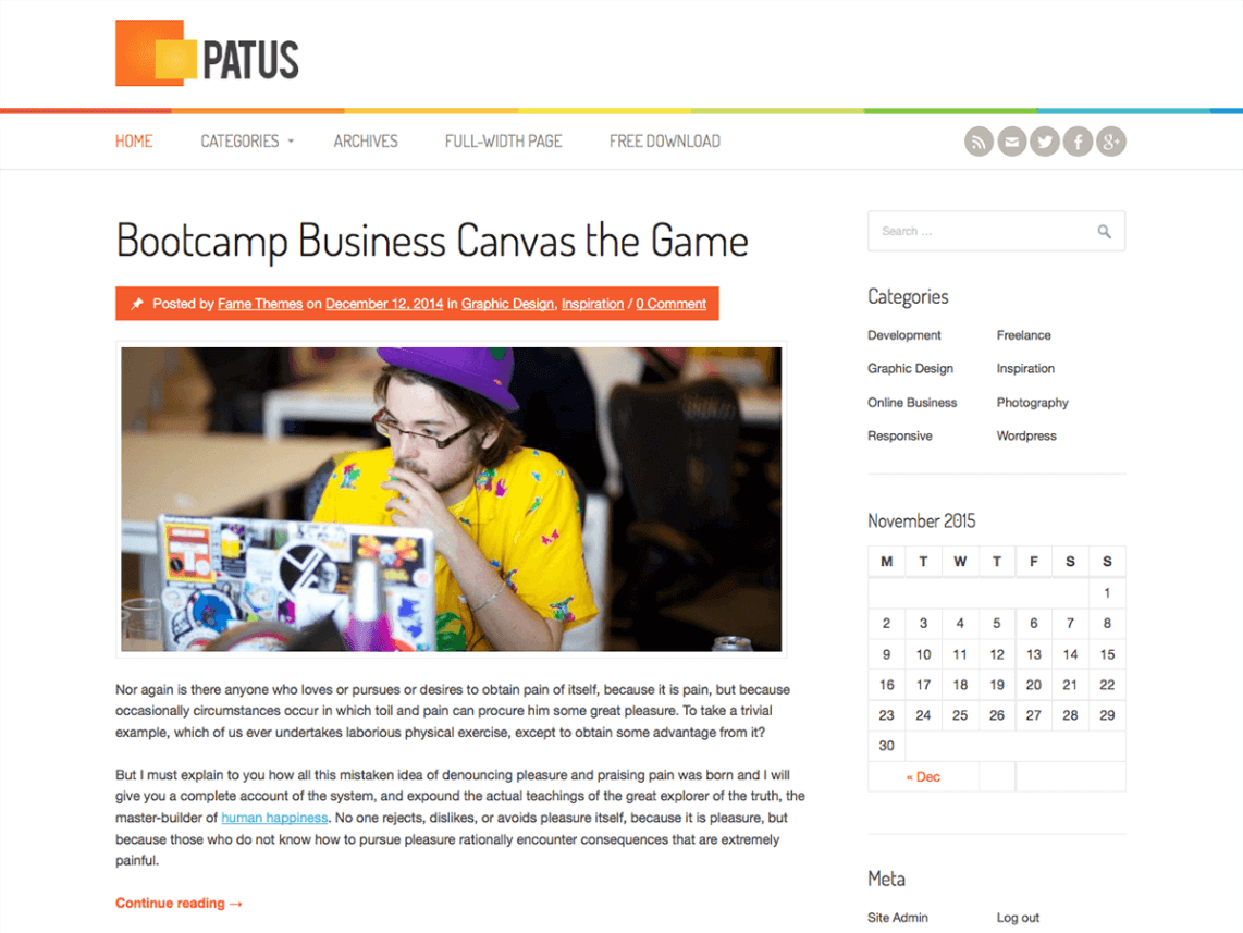 patus-wordpress-theme