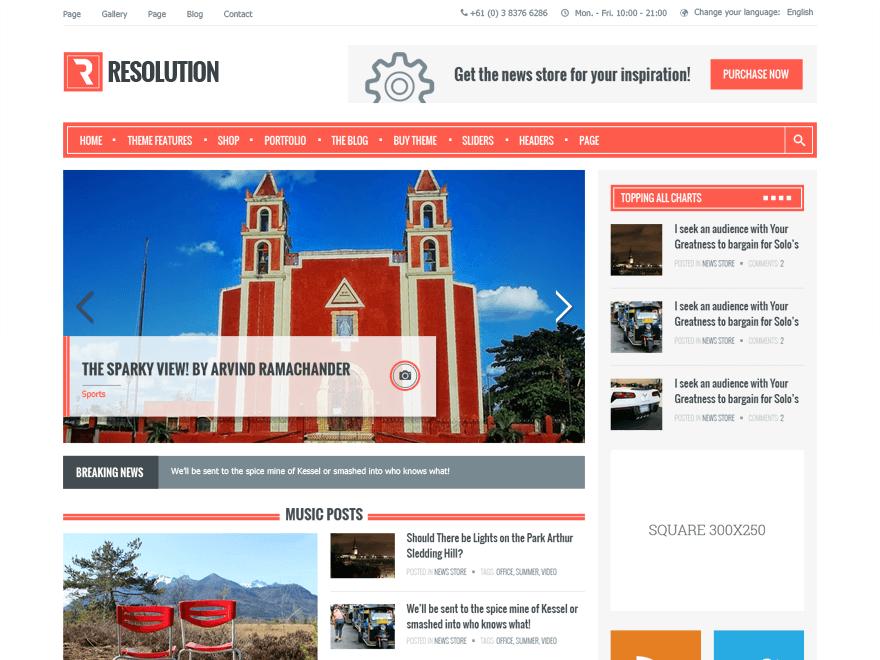 resolution-wordpress