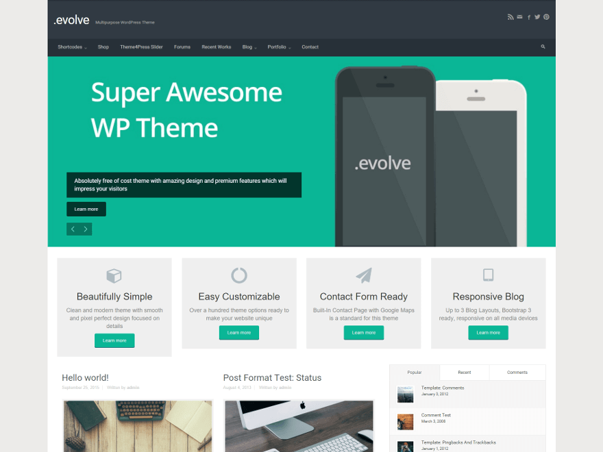 theme-wordpress-evolve