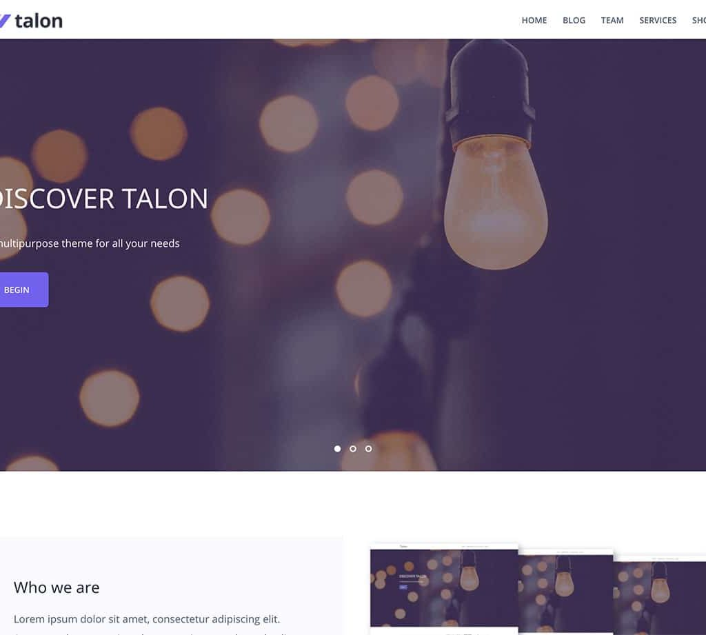 talon_theme_wordpress_gratuit