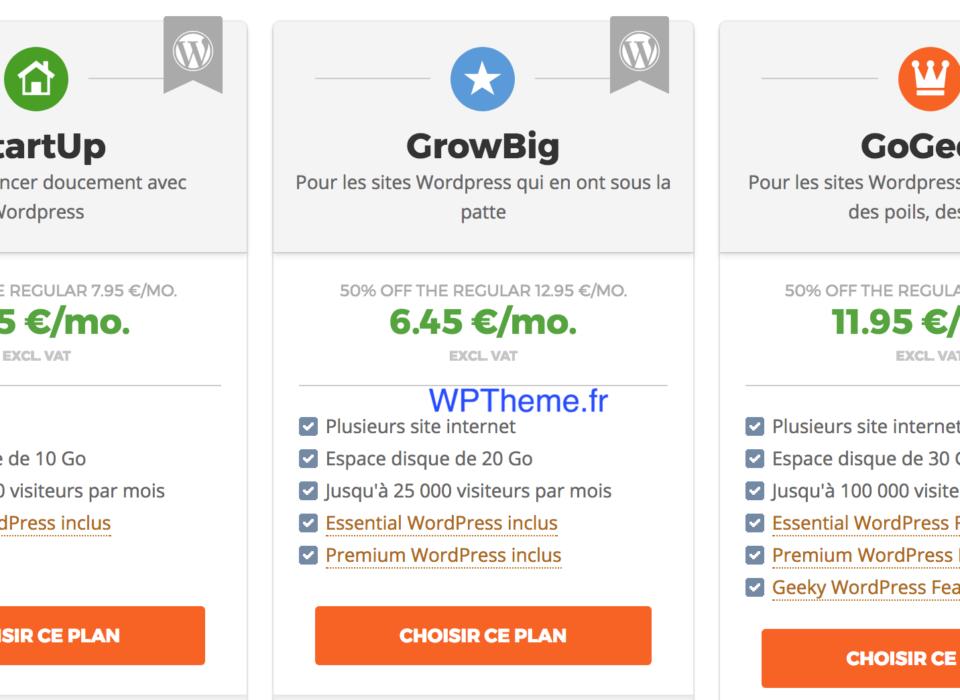 Hébergement WordPress Siteground