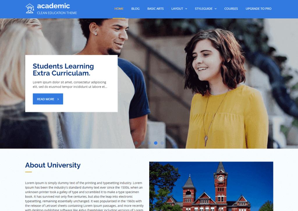 academic-theme-wordpress