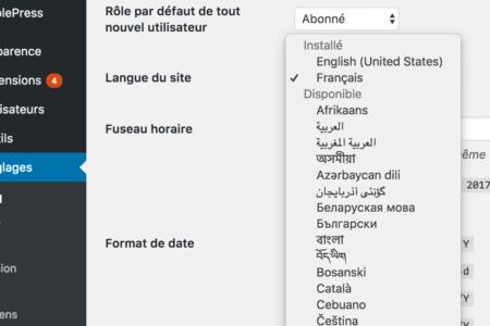 langue-wordpress-changer
