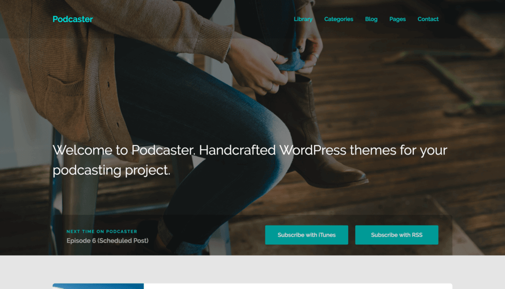 podcaster-wordpress-theme