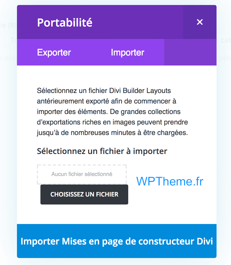 import-layout-divi