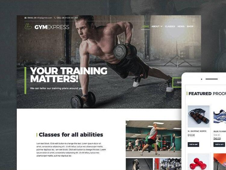 gym-express-theme-wp-gratuit