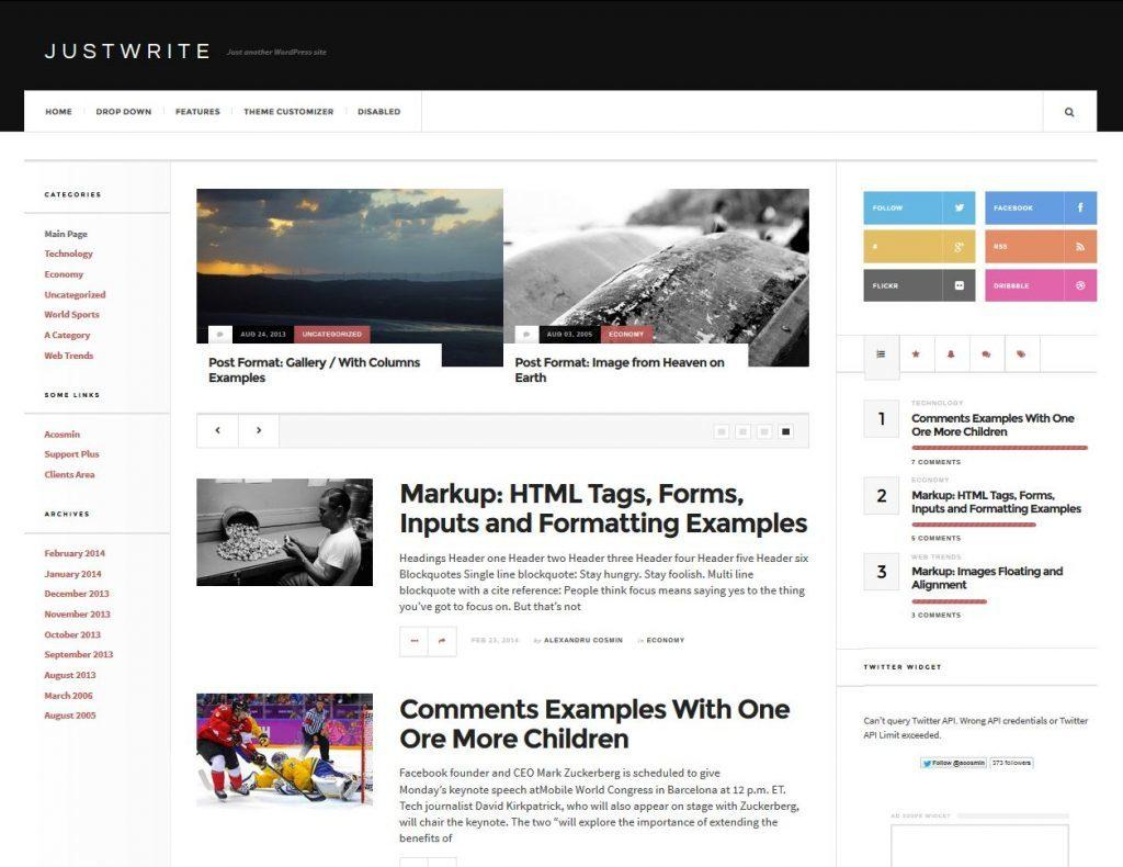 wordpress-theme-justwrite-gratuit