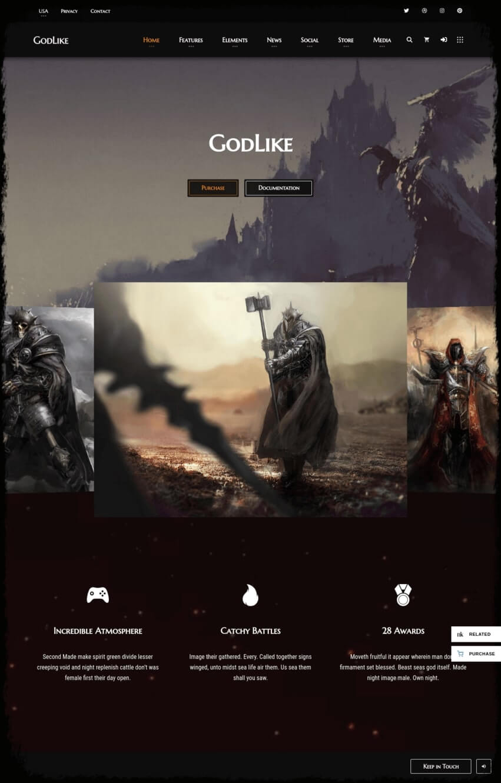 godlike-theme-wordpress-gaming