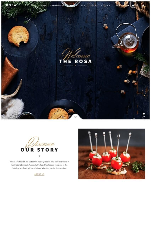 rosa-theme-wordpress-fooding