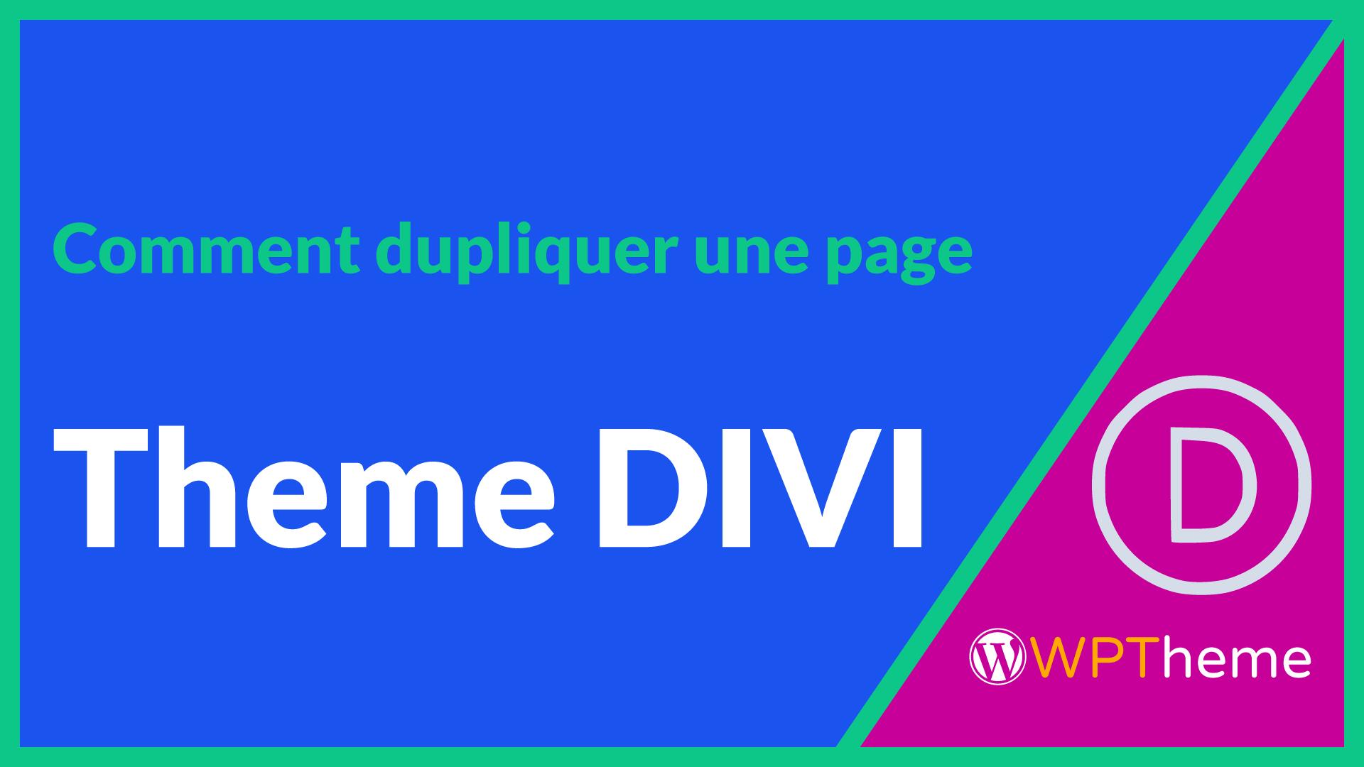 dupliquer-page-theme-divi