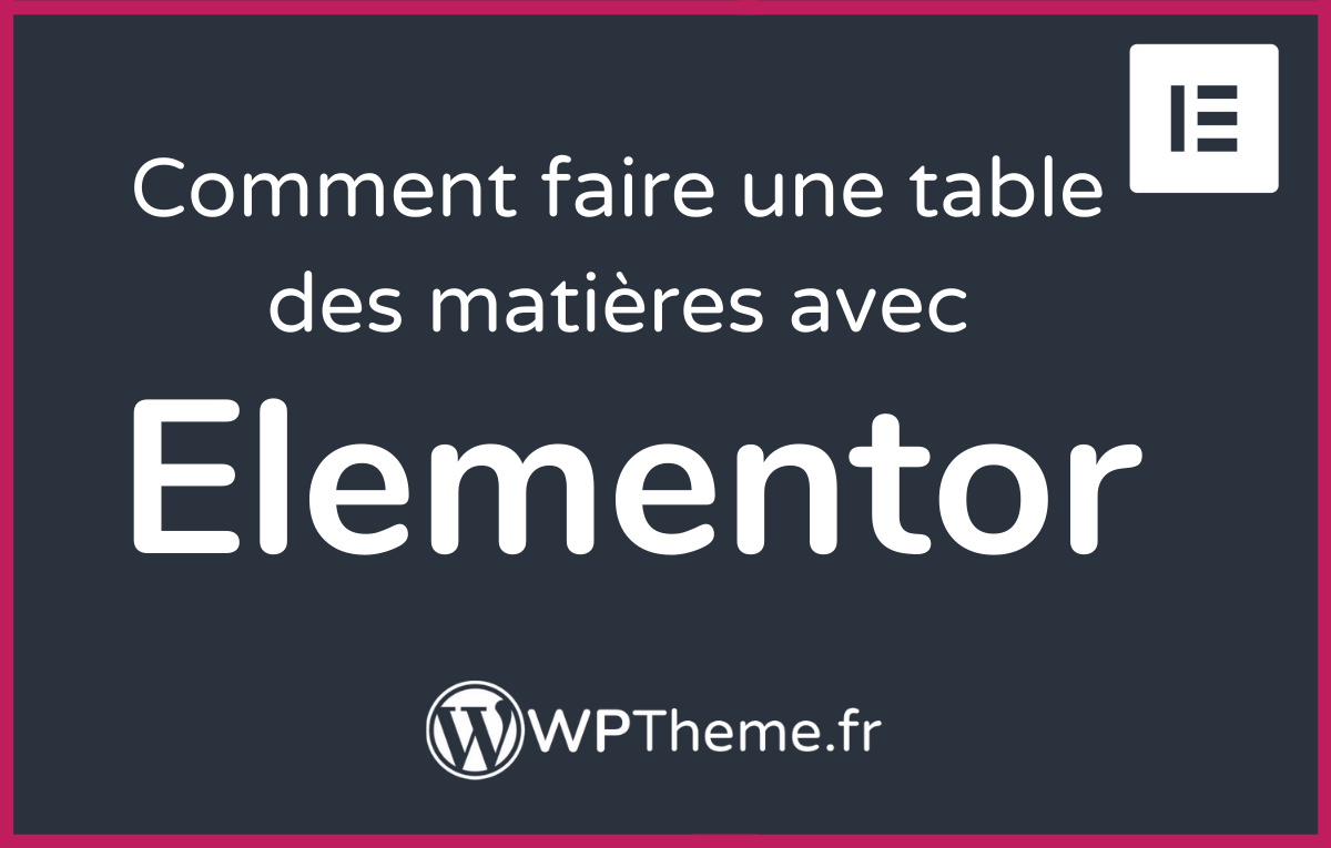 table-matiere-elementor-toc