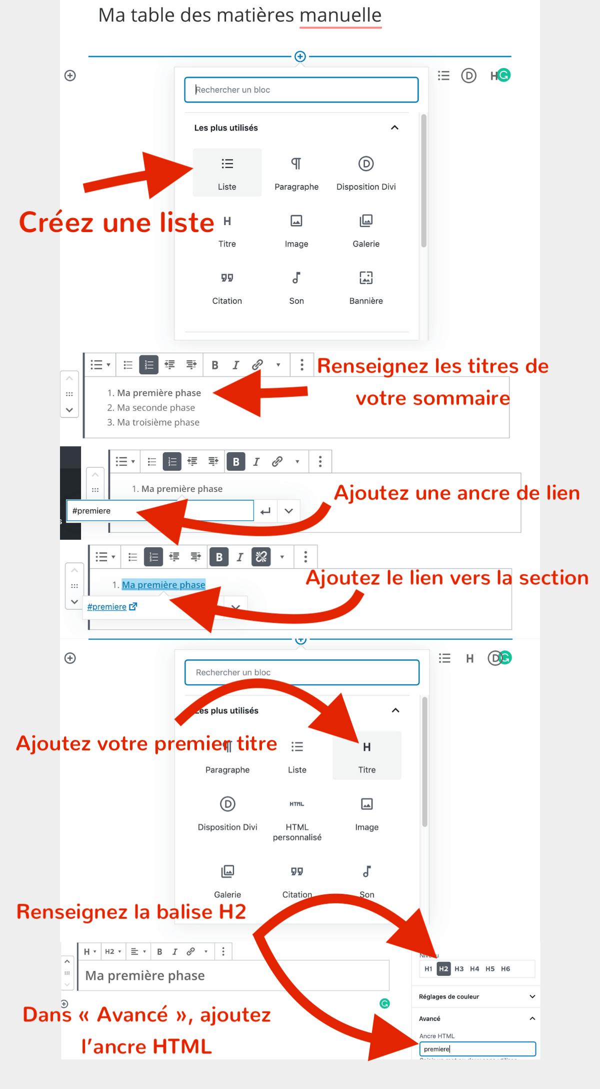 table-matiere-wordpress-manuelle