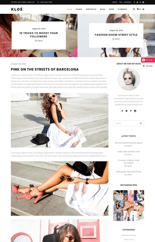 kloe-theme-wordpress-blog-mode