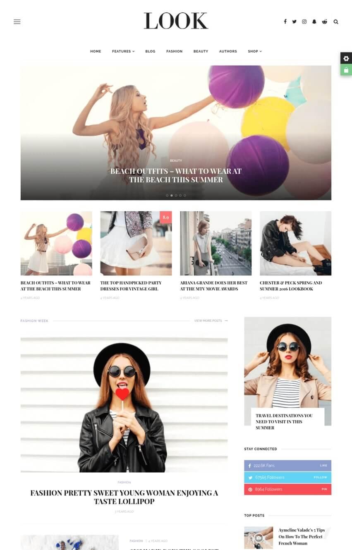 look-theme-wordpress-blog-mode