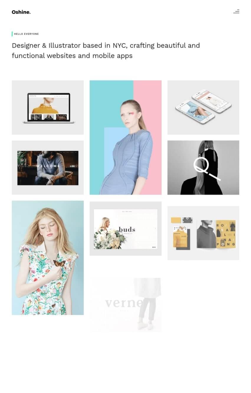 oshine-theme-wordpress-portfolio