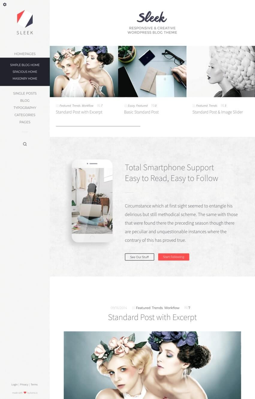 sleek-theme-wordpress-blog-mode