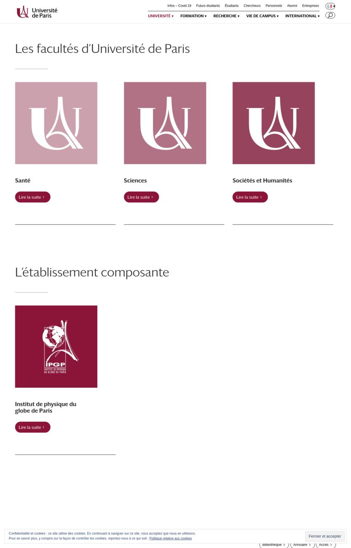 universite-paris-exemple-site-divi
