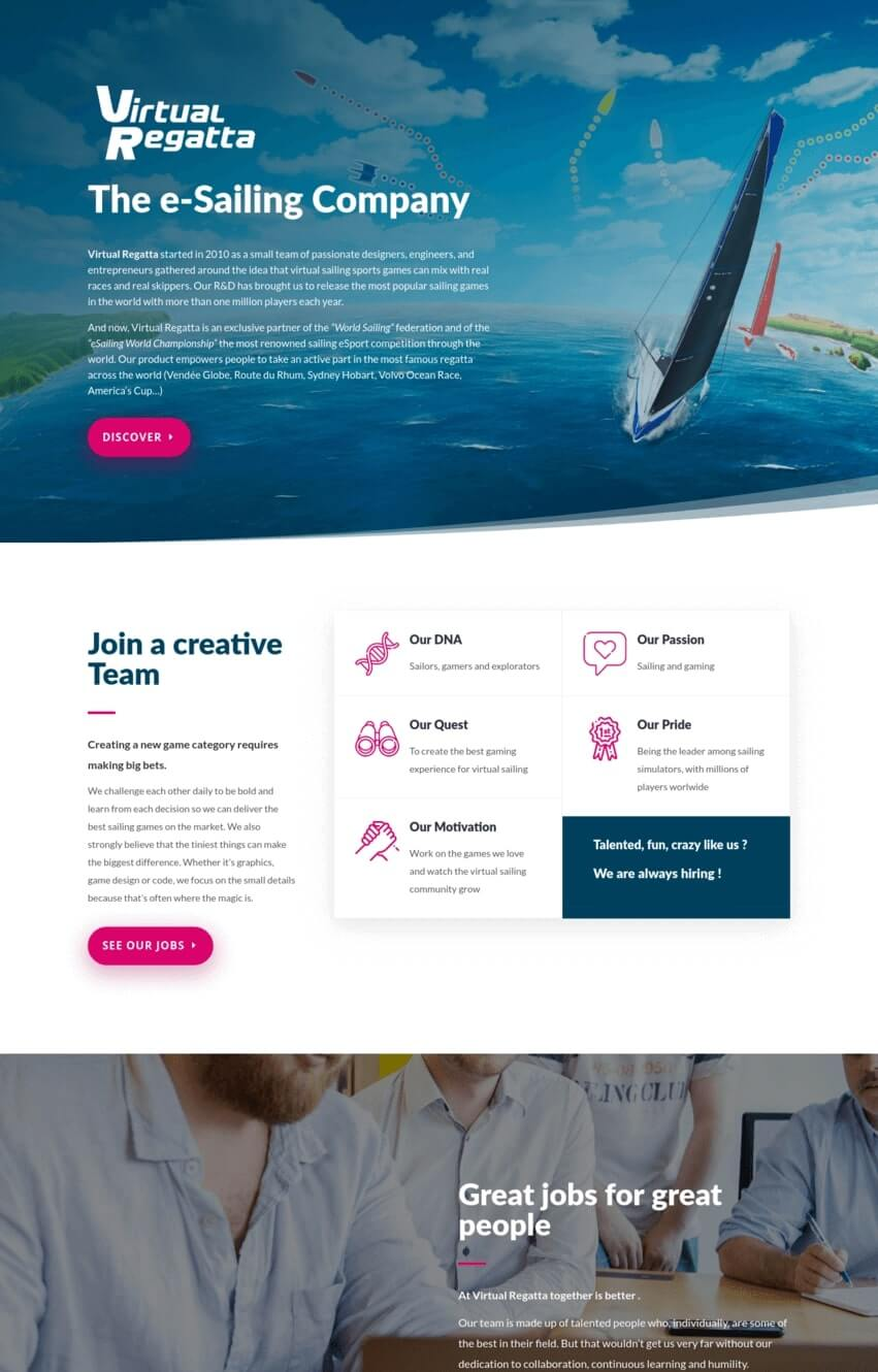 virtual-regatta-exemple-site-divi