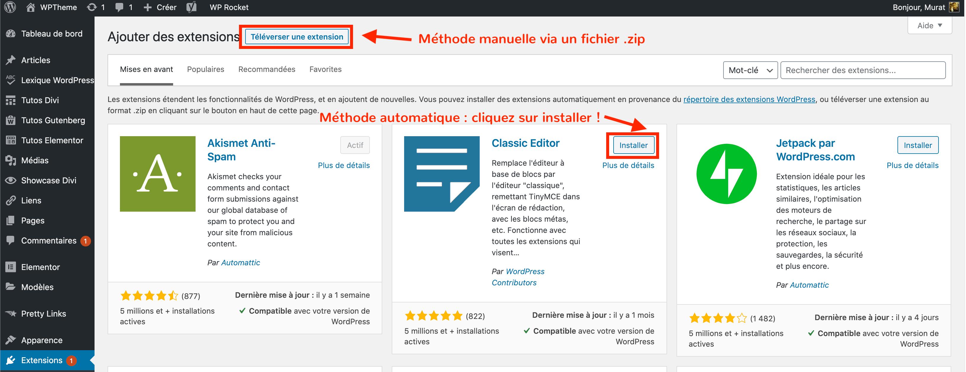 comment-installer-plugin-wordpress