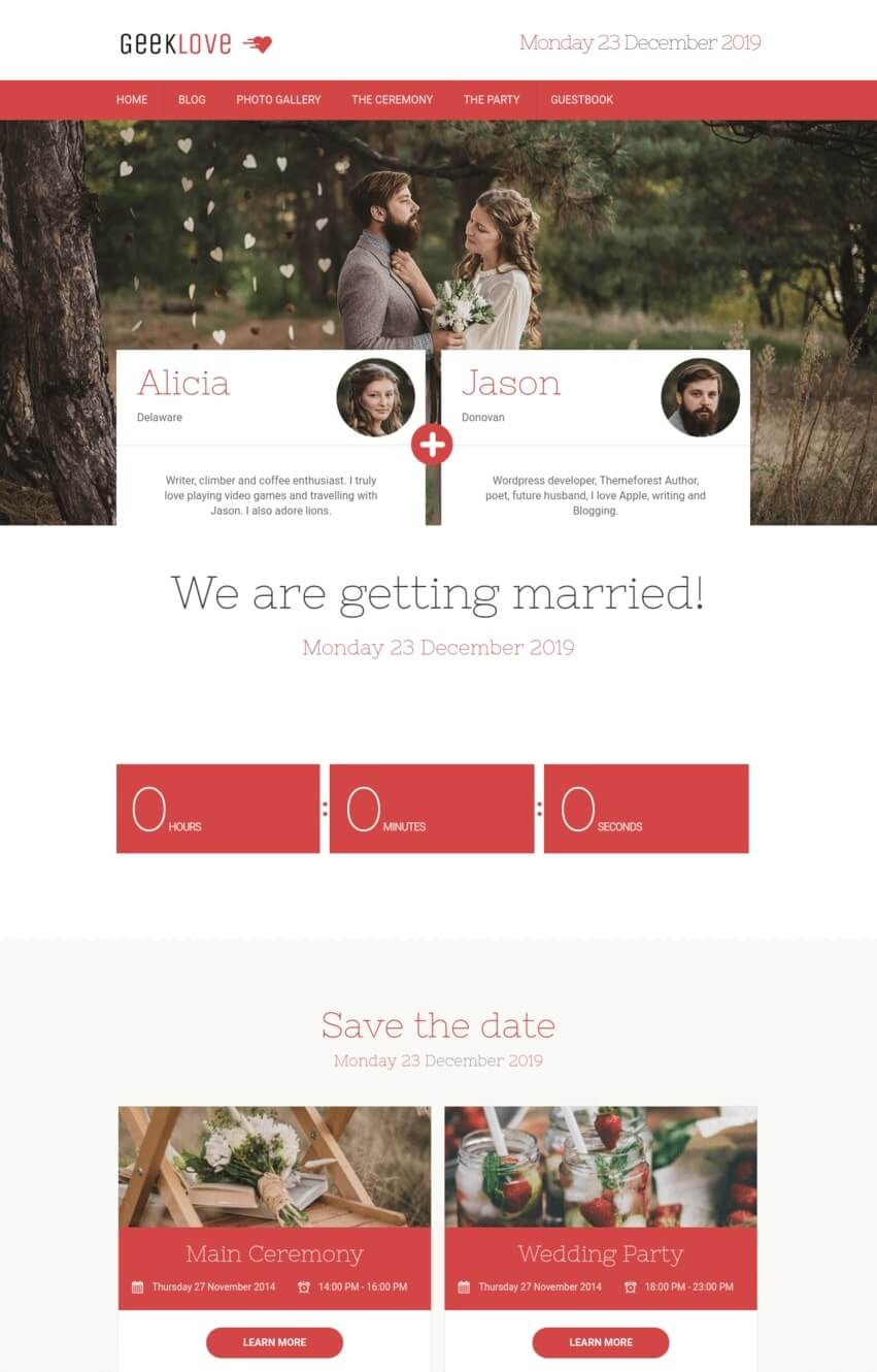 geeklove-theme-wordpress-mariage