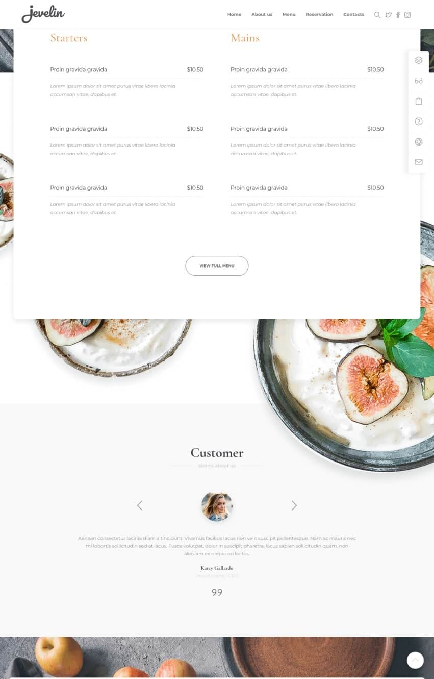 jevelin-theme-wordpress-restaurant