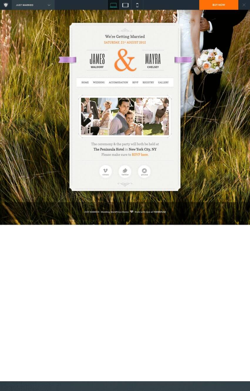 just-married-theme-wordpress-mariage