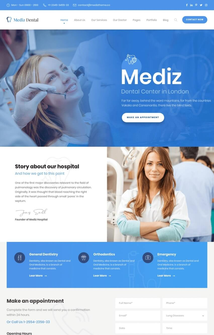 mediz-theme-wordpress-sante