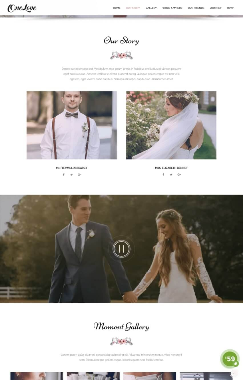 onelove-theme-wordpress-mariage