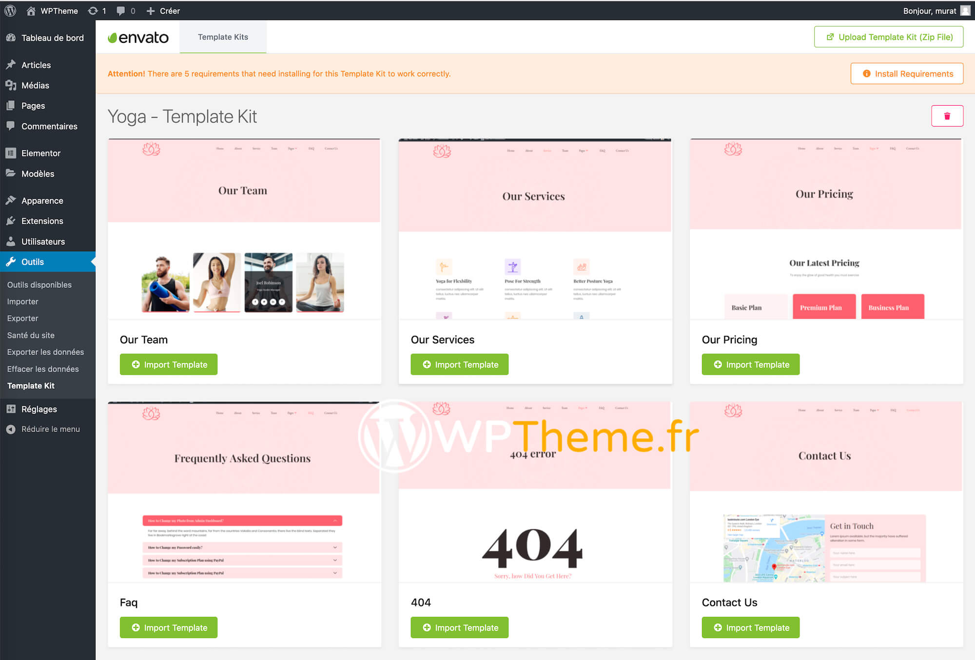 template-kit-elementor-installation-finie